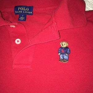 Polo Ralph Lauren boys size 7 red short sleeve